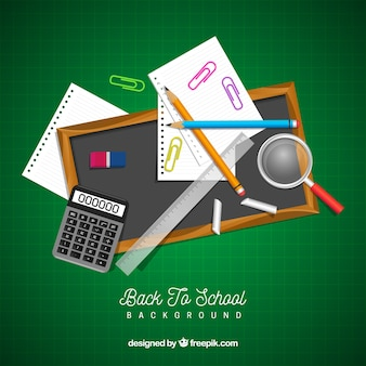 Back to school background with realistic style