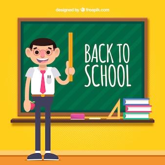 Torna a scuola sfondo con l'insegnante