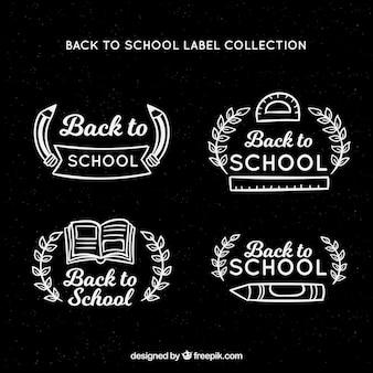 Torna alla collezione di badge scuola in stile lavagna