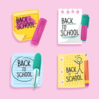 Back to school badges theme