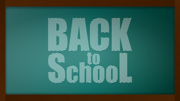 Back to school banner. blackboard with a chalk board with a green background. design element on the theme of business and school.