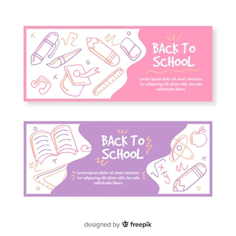 Back to school banner collection