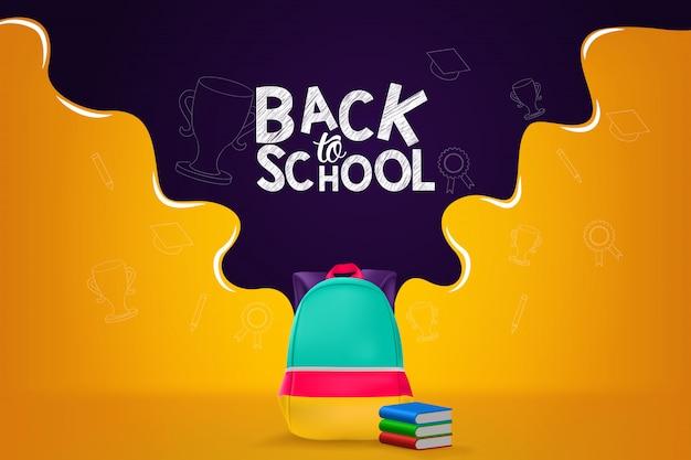 Back to school banner design illustration background