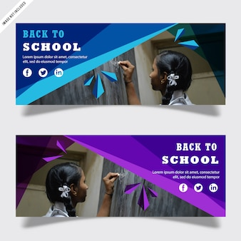 Back to school banner template