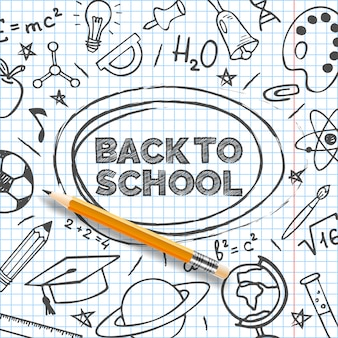 Back to school banner template.