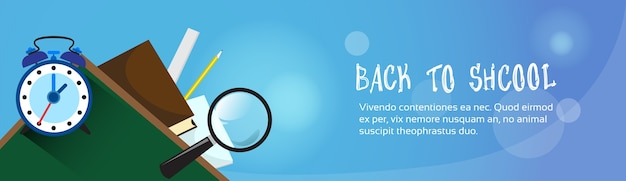 Back to school banner with copy space