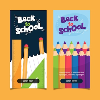 Back to school banners concept