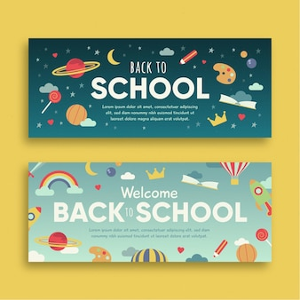 Back to school banners design