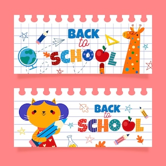 Back to school banners template