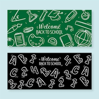 Back to school banners theme