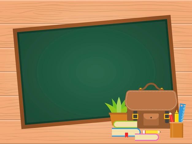 Back to school blackboard background