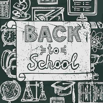 Back to school blackboard lettering