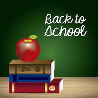 Back to school over board background vector illustration
