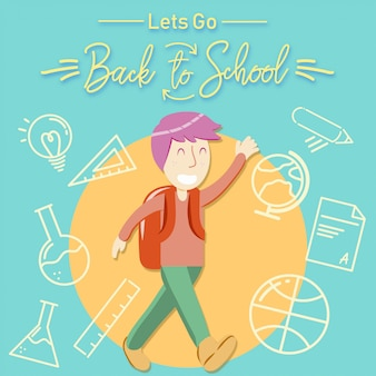 Back to school boys vector