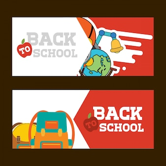 Back to school brochure design vector