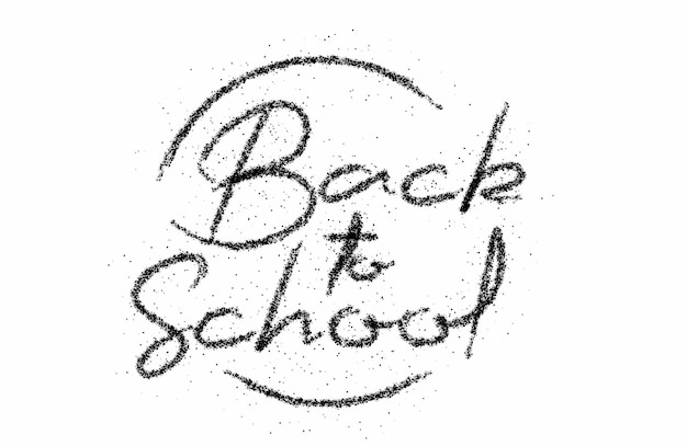 Back to school calligraphic modern particle font style text vector illustration design.