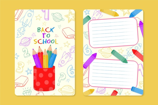 Back to school card concept