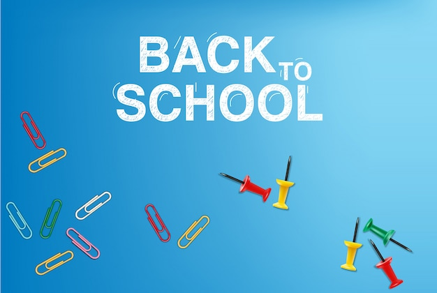 Back to school card supplies illustration