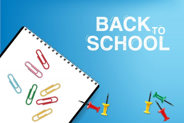 Back to school card supplies illustrations