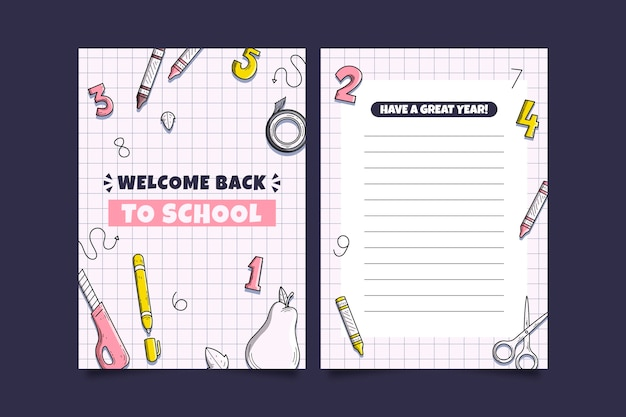 Back to school card template design