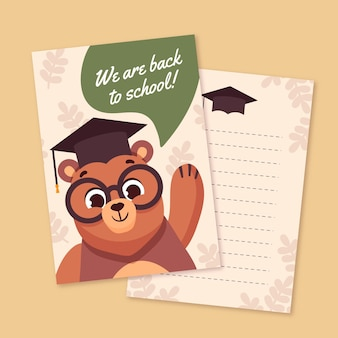 Back to school card template pack
