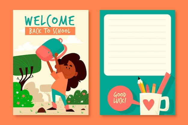 Back to school card template