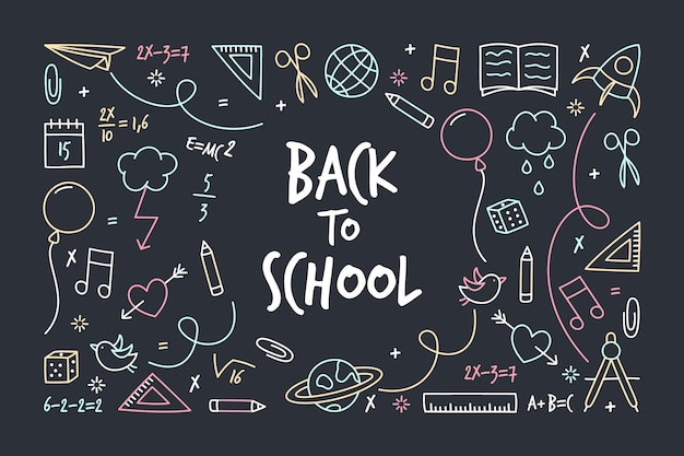 Back to school chalkboard background