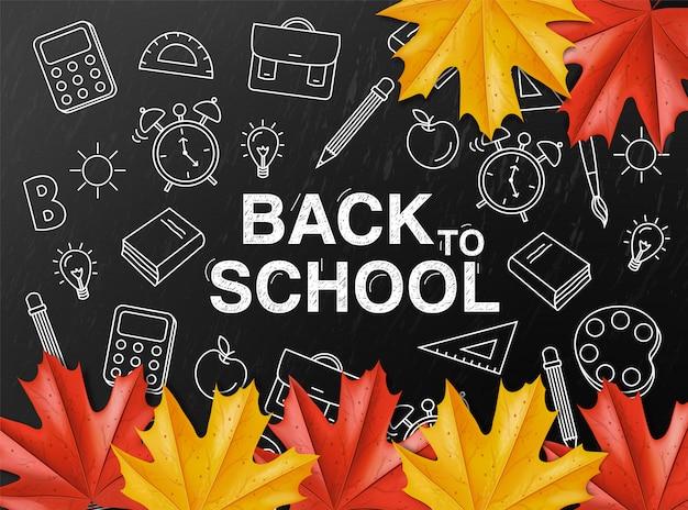 Back to school on chalkboard