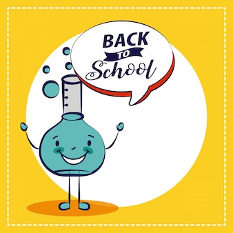 Back to school chemistry elment school element illustration