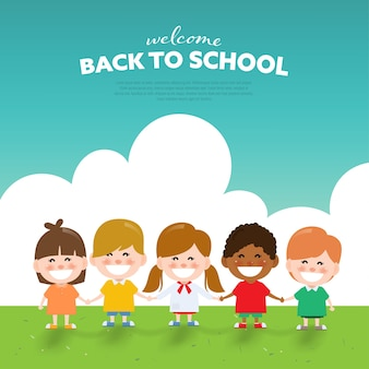 Back to school childrend background.