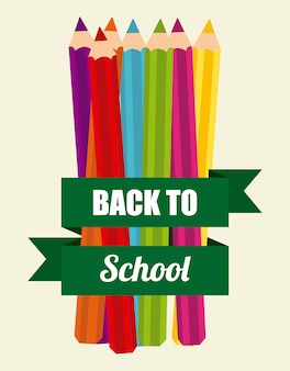 Back to school, colors supplies
