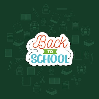 Back to school composition design