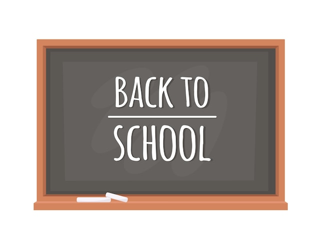 Back to school concept chalkboard with the inscription