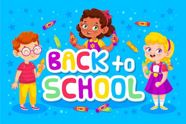 Back to school concept and children