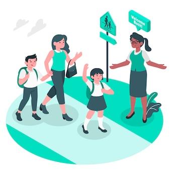 Back to school concept illustration