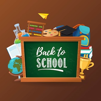 Back to school concept poster template design