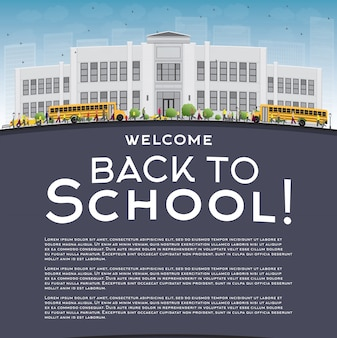 Back to school concept with title and text template