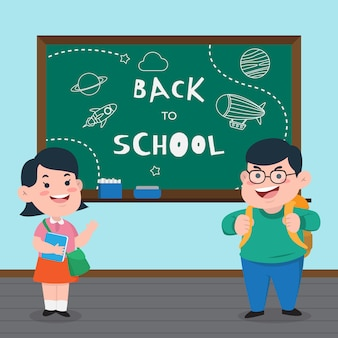 Back to school cute character