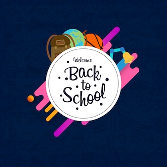 Back to school design element vector