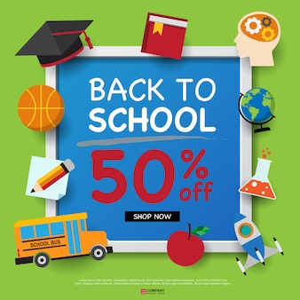 Back to school design template,back to school shopping brochure