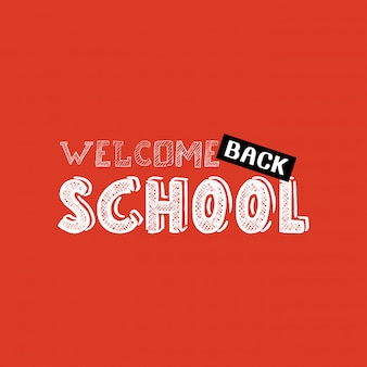 Back to school design with orange background vector