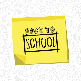 Back to school design with white background vector