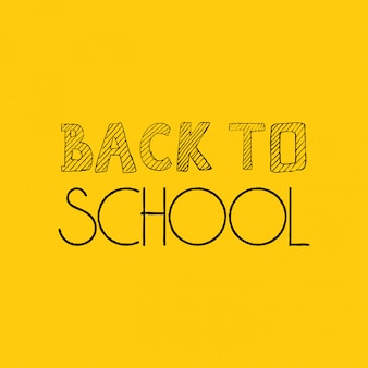 Back to school design with yellow background vector