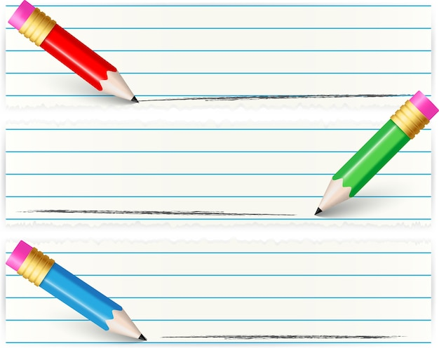Back to school design writing with empty paper and pencil
