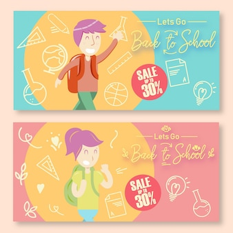 Back to school discount posters landscape