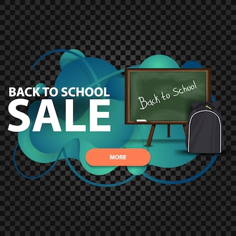 Back to school, discount web banner in the form of lava lamp