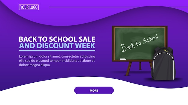 Back to school and discount week banner