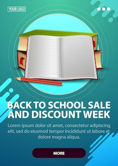 Back to school and discount week vertical template