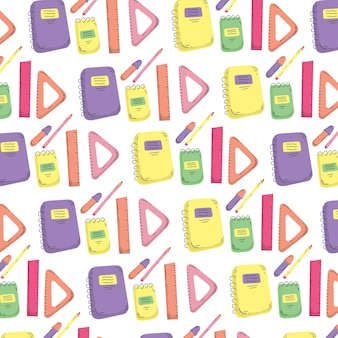 Back to school doodles pattern