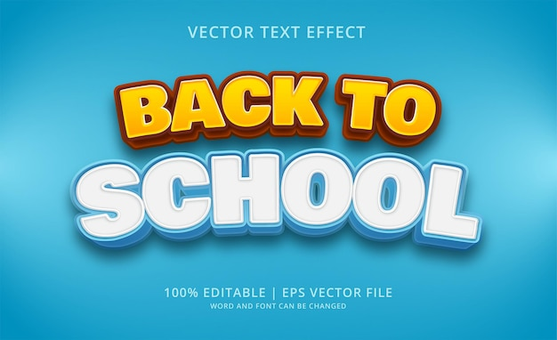 Back to school editable text effect style